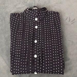 Jcrew Swiss Dot Tux shirt